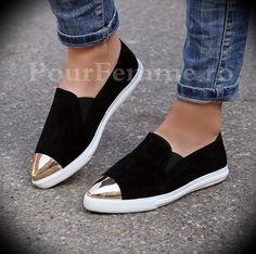 Pantofi Sport Metal Black Suede