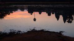 Reflection of Angkor Wat. so peaceful.
