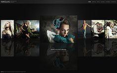 WordPress Theme namens Schwarzfarbenes Fotografen-Portfolio