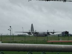 C-130 military cargo planes of the belguim army spotted on brussels airport
