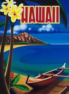 vintage poster hawaii