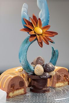 Chocolate showpiece; pastry chef Olli Kuokkanen.