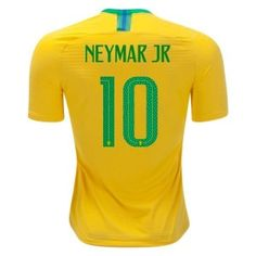 44caf8b7d 2018 World Cup Brazil Authentic Home Soccer Jersey Neymar Jr. 10-Yellow