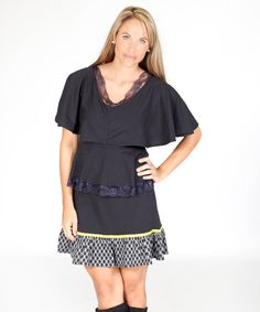 Look at this Jelly the Pug Black Santa Fe Tiered Dress on #zulily today!
