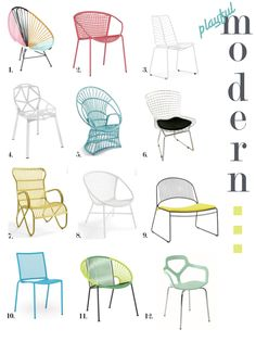 danielle oakey interiors: Playful & Affordable Outdoor Seating Round-Up!