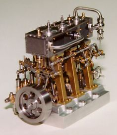 Bill's 1997 entry in the Sherline contest was this very intricate triple expansion steam engine. Not surprisingly, it took first place.