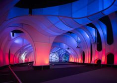 This innovative Welcome Gallery at the Alder Planetarium, in Chicago, was built by Thomas RozakArchitecture, LLC