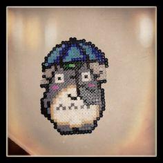 Totoro hama beads by ladybrujer