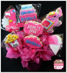 Circus / Carnival Themed Cookie Bouquet by Cakes & Cookies by Clau