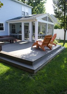Custom TimberTech Deck/Screened in Porch, Lititz PA Screened Porch Designs, Screened In Patio, Backyard Patio Designs, Back Patio, Back Deck, The Farm, Outdoor Patio Rooms, Outdoor Kitchens, Outdoor Spaces
