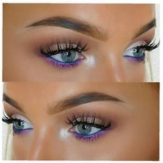 Gorgeous eye makeup by self-taught makeup lover @nichollsbeautybible using @toofaced palette and GWA's unicorn lashes. #gwalondon