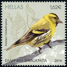 Eurasian Siskin stamps - mainly images - gallery format Vintage Stamps, Vintage Birds, World Birds, Fauna, Stamp Collecting, Bird Art, Siskin, Greece, Gallery
