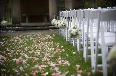 Beautiful outside wedding ceremony