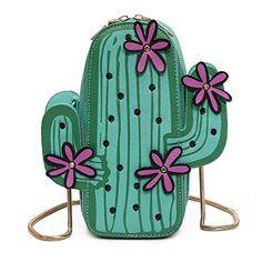 6c1c41afab1 MILATA Women Cactus Shape PU Leather Mini Cross Body Bag ... https