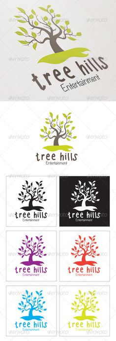 Tree Hills - Logo Design Template Vector #logotype Download it here: http://graphicriver.net/item/tree-hills/4362645?s_rank=668?ref=nexion