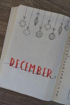 #bulletjournal #bujo #stationary #journaling #calligraphy #planner #December #Christmas #ornaments