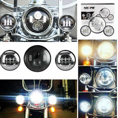 Set 7inch Led Headlight For Harley Motorcycle Headlight Pair 4.5 Inch Passing Fog Lights For Harley Davidson To Win A High Admiration Home