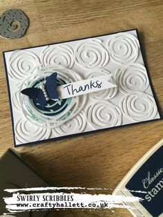 The new swirly scribbles dies from stampin up are just amazing, a versatile set that all levels of crafter can use in their card making. So easy to use.