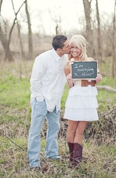 I like this as an engagement photo but would like it even more if he was holding a sign saying she said yes.