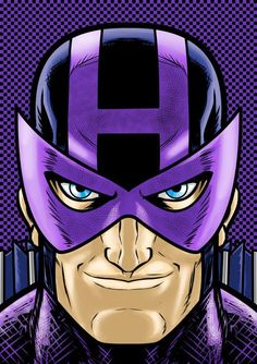 Hawkeye in original suit with the mask. Second fav avenger