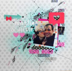 scrapbook layout 010 / Silvie and Martin