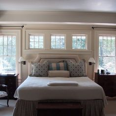 Master bedroom interior Windows Above Bed Design Ideas, Pictures, Remodel, and Decor - page 2