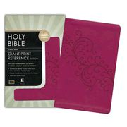 KJV Personal Size Giant Print Reference Bible, Imitation leather, berry