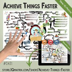 The Achieve Things Faster IQ Matrix explores key things you can immediately do that will help you accelerate the time it takes you to accomplish your goals. It's easy to set big goals. In fact, many people set challenging goals, but very few actually achieve them. And for the few who achieve their goals, this process typically takes far longer than anticipated. There are, however, several things you can do that will accelerate the progress you make toward a goal.   #achievement #mindmap Secret To Success, Challenges, Facts, Goals, Key, Feelings, People, How To Make, Unique Key