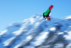 SOCHI, RUSSIA - FEBRUARY 04: A Canadian snowboarder gets some big air on the Slopestyle course ahead of the Sochi 2014 Winter Olympics on February 4, 2014 in Sochi, Russia. (Photo by Adam Pretty/Getty Images)