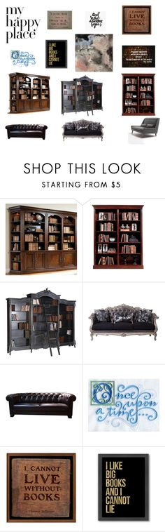 """""""My Happy Place: My Library"""" by hplover92 ❤ liked on Polyvore featuring interior, interiors, interior design, home, home decor, interior decorating, Hooker Furniture, SINN, Once Upon a Time and Americanflat"""