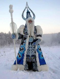 The Russian Santa Claus in Siberia (The eastern part of Russia situated in Asia). He's known as Ded Moroz.