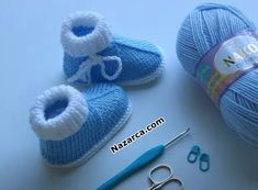 Baby Booties Knitting Pattern, Knitted Booties, Baby Knitting Patterns, Knitted Hats, Crochet Shoes, Baby Shoes, Sewing, Blog, Clothes