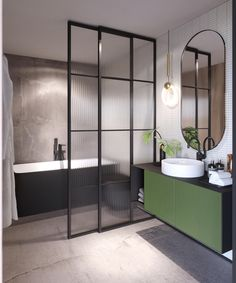 Dreaming of a luxuriousness or designer master bathroom? We have gathered together plenty of gorgeous bathroom a few ideas for small or large budgets, including baths, showers, sinks and basins, plus bathroom decor ideas. Contemporary Bathrooms, Modern Bathroom Design, Bathroom Interior Design, Home Interior, Bathroom Designs, Bathroom Storage, Small Bathroom, Bathroom Ideas, Master Bathrooms