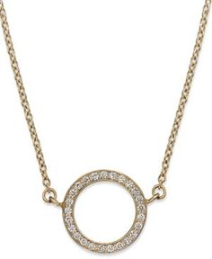 Diamond Open Circle Pendant Necklace in (1/6 ct. t.w.)