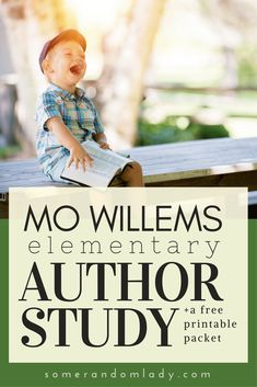 Mo Willems Author study: Book-based unit study. Find book list and activities, meet the author, and download an 8 page free printable pack.