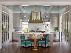Matthew Quinn's Kitchen of the Year for House Beautiful featuring AKDO Textile Glass in Loom