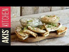 Greek pita bread for souvlaki by Greek chef Akis Petretzikis. Make these soft, freshly baked, homemade Greek pita bread for souvlaki, gyro or just for dipping!