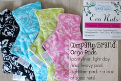 Win these Orgo Pads (plus other reusable menstrual supplies) at RedandHoney.com