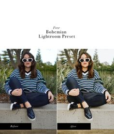 Free Bohemian Lightroom Preset for bloggers and creatives!