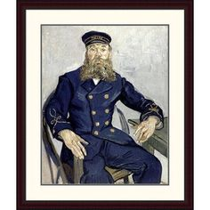 Global Gallery 'Portrait of Joseph Roulin' by Vincent Van Gogh Framed Painting Print Size: