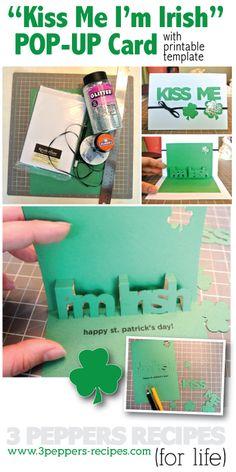 St. Patricks Day Pop Up Card Tutorial