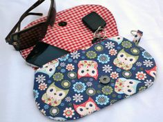 Spring owl's clutch purse snap pouch clutch fall by ValkinThreads, $22.00  #clutch #purse #pouch #owl #spring #bag #accessories #fashion #colorful
