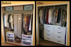 Built In Drawers Updated The Look And Feel Of This Reach Closet Custom