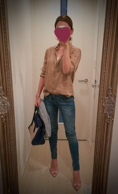 Shirt: Uniqlo Skinny: GAP Heels: J.Crew Bag: PRADA