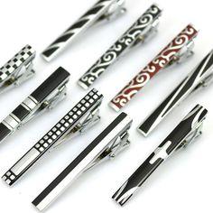 Mode Mann Klassische einfache krawattennadel silber metall clips krawattennadel für männer hochzeit & Business Kostenloser Versand Großhandel