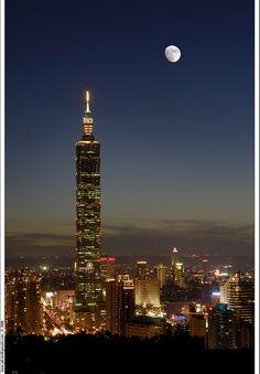 台北101 to view all my photos for this world's tallest skyscraper (2003-2007), click  Taipei 101 skyscraper.  Taipei, Taiwan. b25473+25478