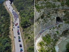 Aerial shots of TDF stage 16.