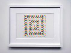 Dessin pixelisé - Motif, couleur, carré - 24 x 32 cm - #leaburrot #pattern #colors #squares #collection #marker #tria #drawing #optic #opart #berlin #artinberlin