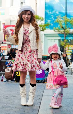 japanese street style... that little girl is already stylin'!! even got the attitude down! <3