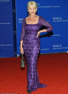 Stunning: Helen Mirren looked beautiful as she attended the White House Correspondent's Association Dinner on Saturday